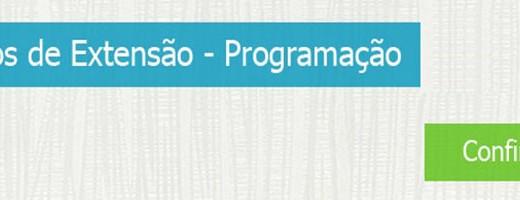 Programação de Cursos de Extensão, confira